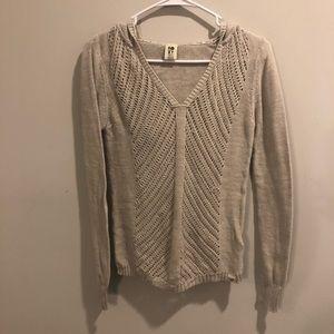 Roxy knit hoodie 100% cotton Jacket Cream